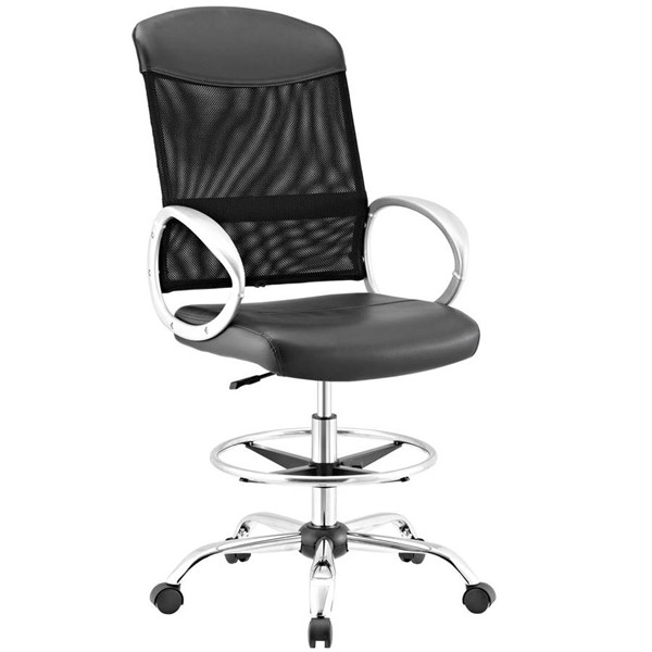 Modway Furniture Emblem Black Drafting Chair EEI-2864-BLK