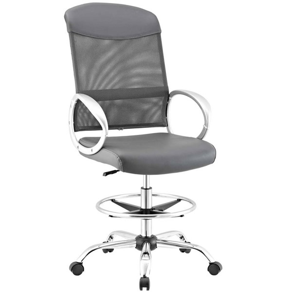 Modway Furniture Emblem Gray Drafting Chair EEI-2864-GRY