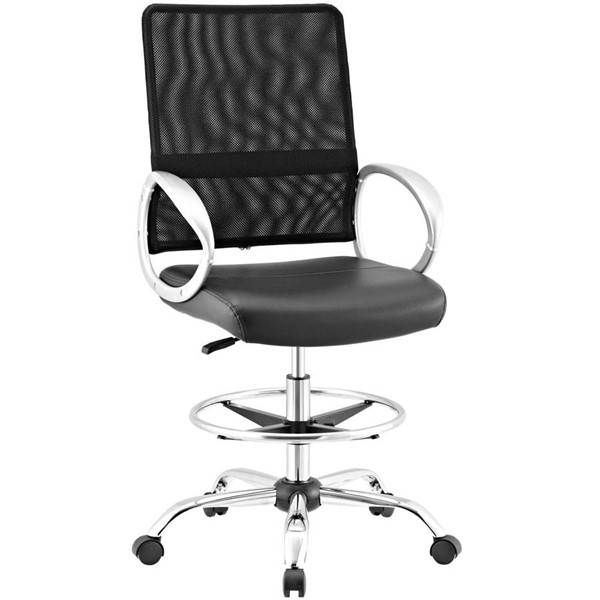 Modway Furniture Command Black Drafting Chairs EEI-2865-OCH-VAR