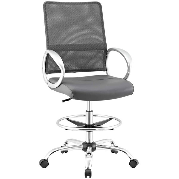 Modway Furniture Command Gray Drafting Chair EEI-2865-GRY