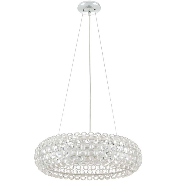 Modway Furniture Halo Clear 25 Inch Pendant Chandelier EEI-2909