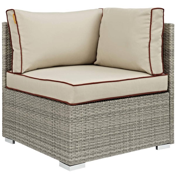 Modway Furniture Repose Beige Outdoor Patio Corner EEI-2956-LGR-BEI