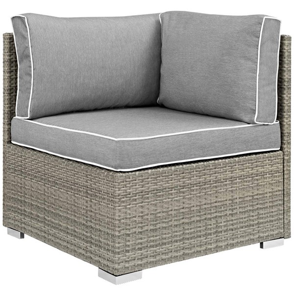 Modway Furniture Repose Gray Outdoor Patio Corner EEI-2956-LGR-GRY