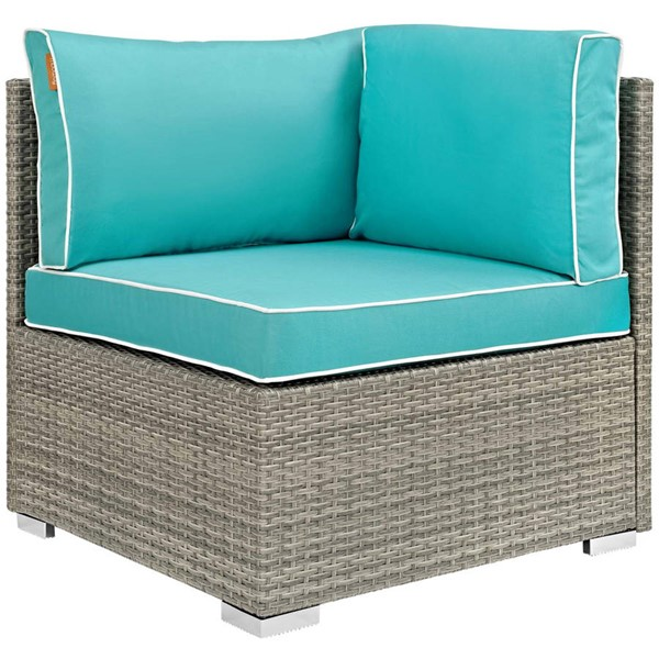 Modway Furniture Repose Turquoise Outdoor Patio Corner EEI-2956-LGR-TRQ
