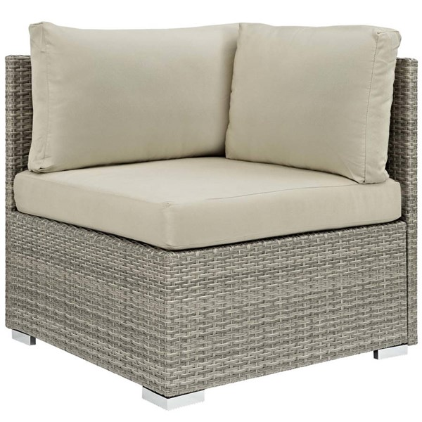 Modway Furniture Repose Beige Fabric Outdoor Patio Corners EEI-2957-LGR-OCR-VAR