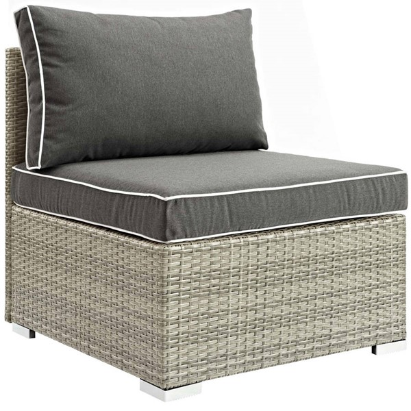 Modway Furniture Repose Charcoal Outdoor Patio Armless Chair EEI-2958-LGR-CHA