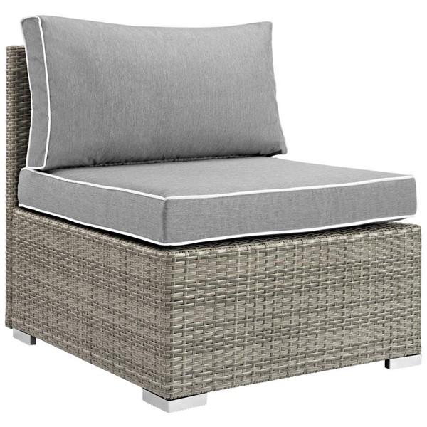 Modway Furniture Repose Gray Outdoor Patio Armless Chair EEI-2958-LGR-GRY
