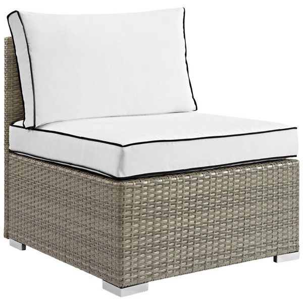 Modway Furniture Repose White Outdoor Patio Armless Chair EEI-2958-LGR-WHI