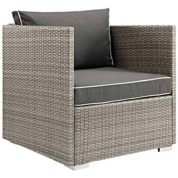 Modway Furniture Repose Charcoal Outdoor Patio Armchair EEI-2960-LGR-CHA