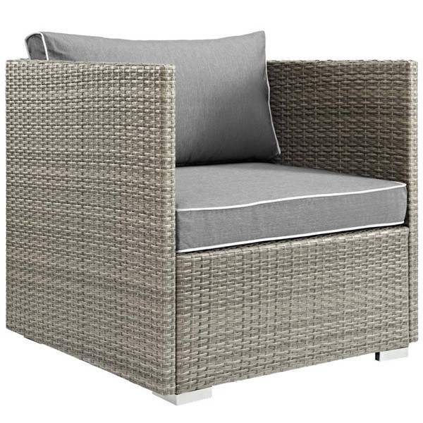 Modway Furniture Repose Gray Outdoor Patio Armchair EEI-2960-LGR-GRY