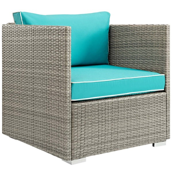 Modway Furniture Repose Turquoise Outdoor Patio Armchair EEI-2960-LGR-TRQ