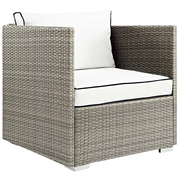 Modway Furniture Repose White Outdoor Patio Armchair EEI-2960-LGR-WHI
