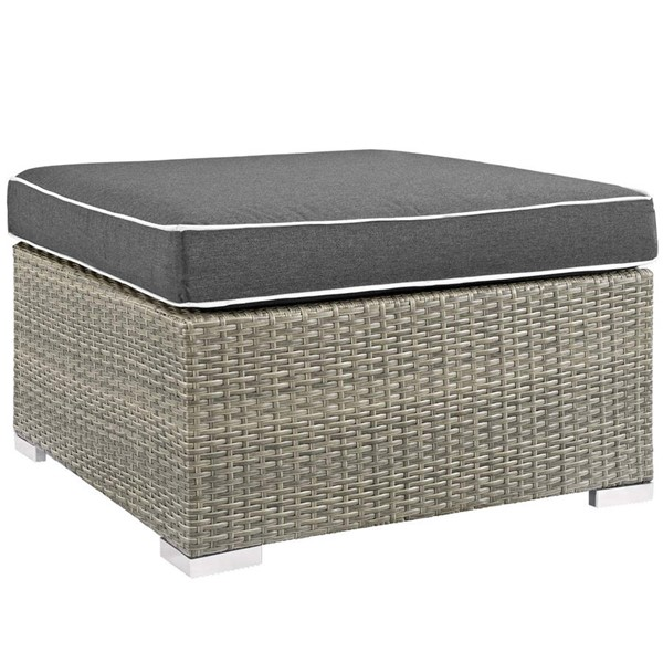 Modway Furniture Repose Charcoal Outdoor Patio Upholstered Ottoman EEI-2962-LGR-CHA