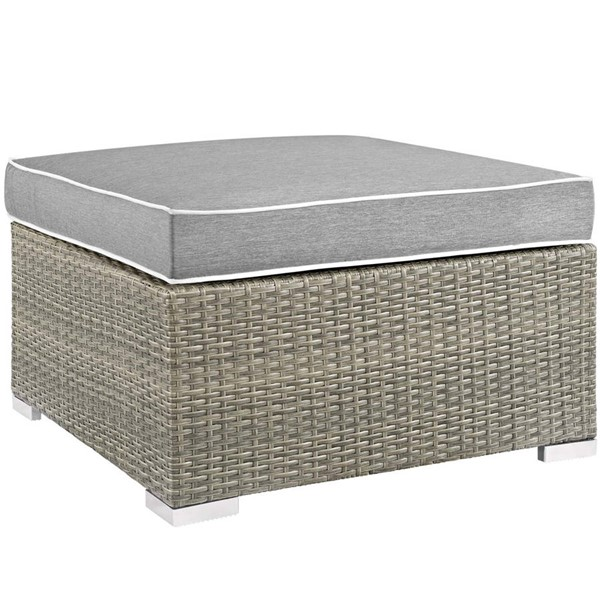 Modway Furniture Repose Gray Outdoor Patio Upholstered Ottoman EEI-2962-LGR-GRY