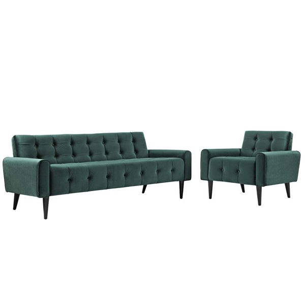 Modway Furniture Delve Green 2pc Living Room Set EEI-2969-GRN-SET