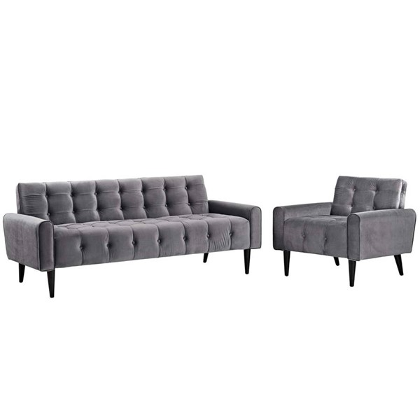 Modway Furniture Delve Gray 2pc Living Room Set EEI-2969-GRY-SET