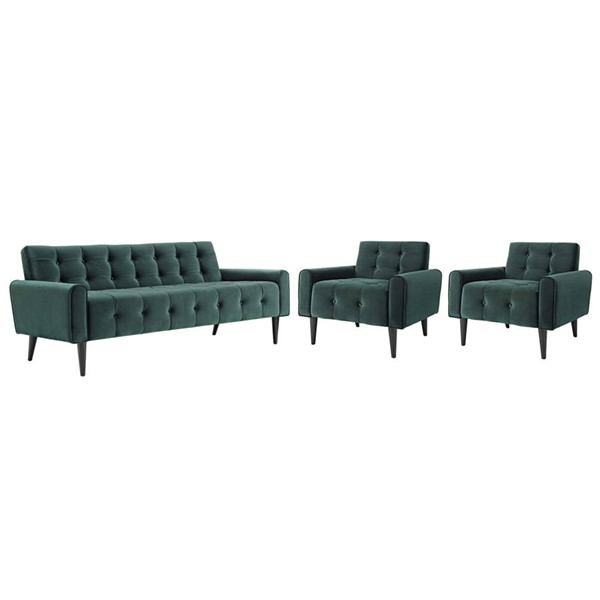 Modway Furniture Delve Green 3pc Living Room Sets EEI-2970-LR-SET-VAR