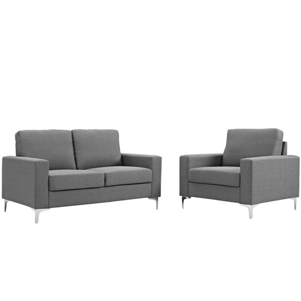 Modway Furniture Allure Gray 2pc Living Room Set EEI-2984-GRY-SET