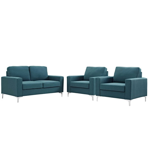 Modway Furniture Allure Blue 3pc Living Room Set EEI-2985-BLU-SET