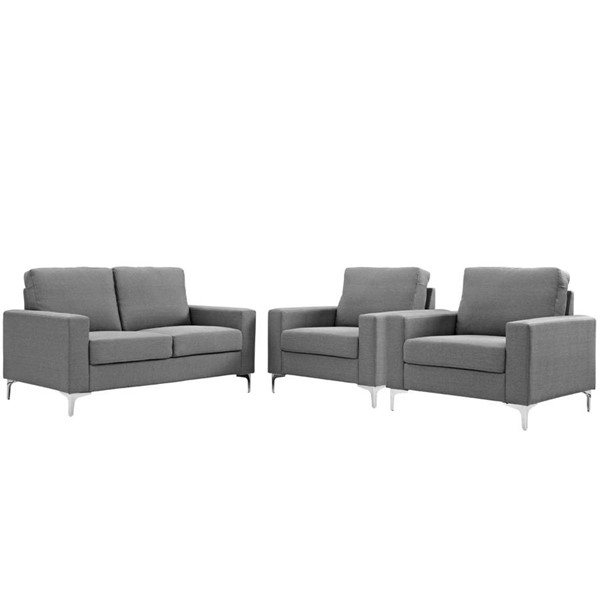 Modway Furniture Allure Gray 3pc Living Room Set EEI-2985-GRY-SET