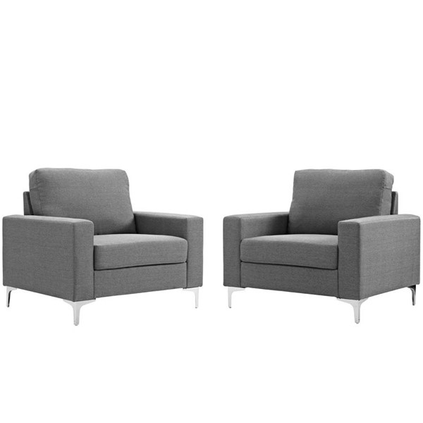2 Modway Furniture Allure Gray Armchairs EEI-2986-GRY-SET