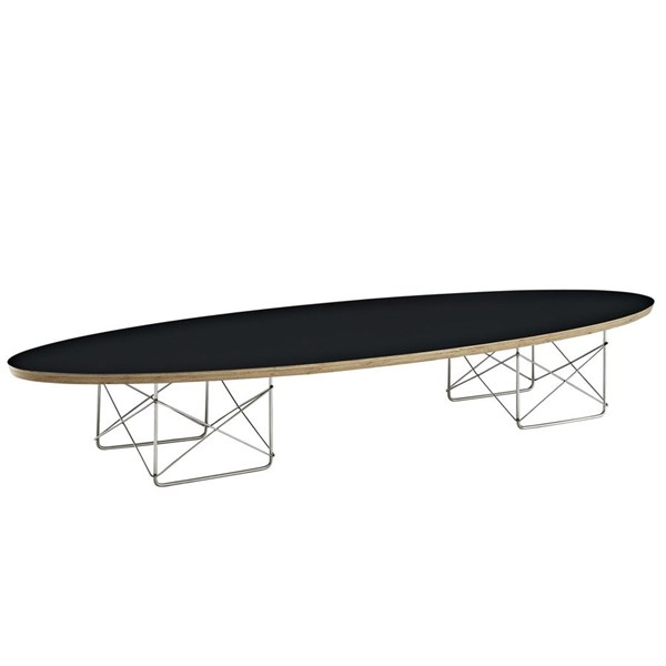Surfboard Modern Black Wood Steel Coffee Tables EEI-302-CT-VAR