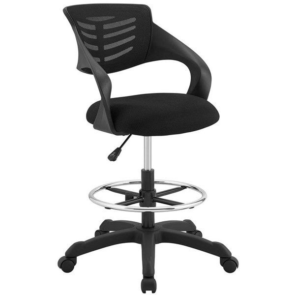 Modway Furniture Thrive Black Mesh Drafting Chair EEI-3040-BLK