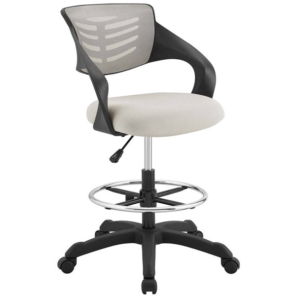 Modway Furniture Thrive Gray Mesh Drafting Chair EEI-3040-GRY