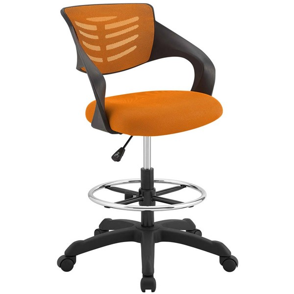 Modway Furniture Thrive Orange Mesh Drafting Chair EEI-3040-ORA
