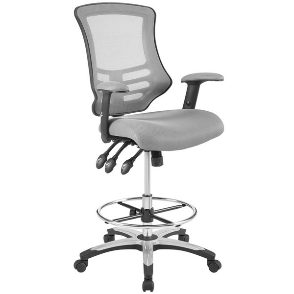 Modway Furniture Calibrate Gray Mesh Drafting Chair EEI-3043-GRY