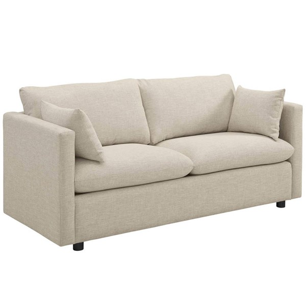 Modway Furniture Activate Beige Upholstered Sofa EEI-3044-BEI