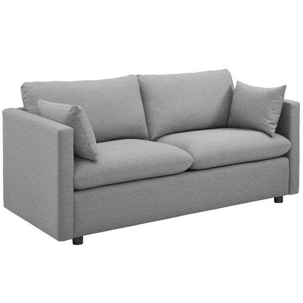 Modway Furniture Activate Light Gray Upholstered Sofa EEI-3044-LGR