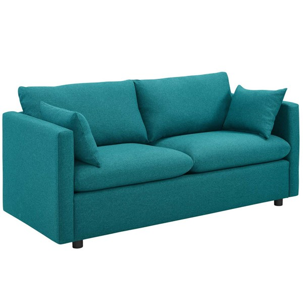 Modway Furniture Activate Teal Upholstered Sofa EEI-3044-TEA
