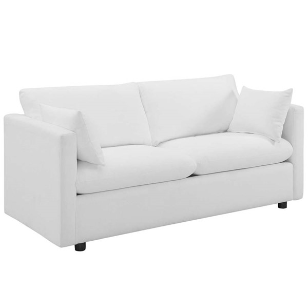 Modway Furniture Activate White Upholstered Sofa EEI-3044-WHI