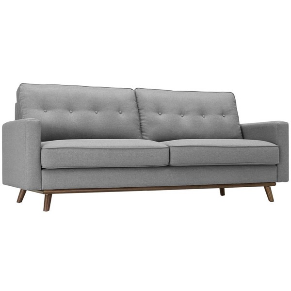 Modway Furniture Prompt Light Gray Fabric Sofa EEI-3046-LGR