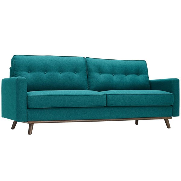 Modway Furniture Prompt Teal Fabric Sofa EEI-3046-TEA