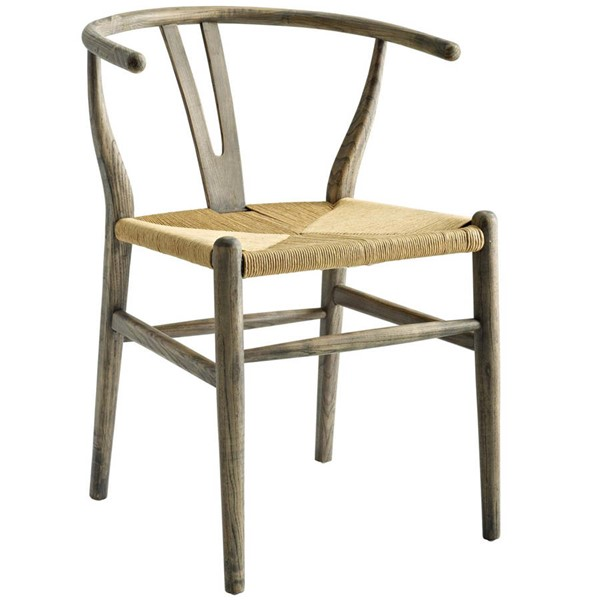 Modway Furniture Amish Weathered Gray Dining Wood Side Chair EEI-3047-GRY