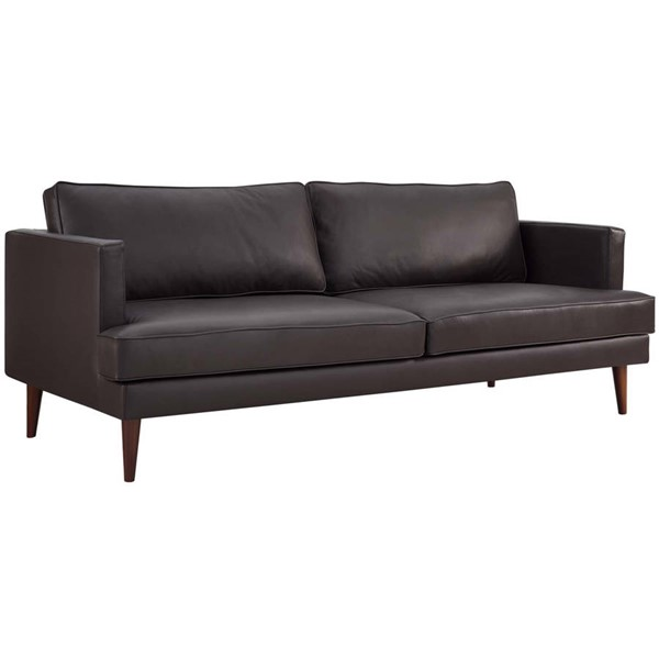 Modway Furniture Agile Brown Leather Sofa EEI-3058-BRN