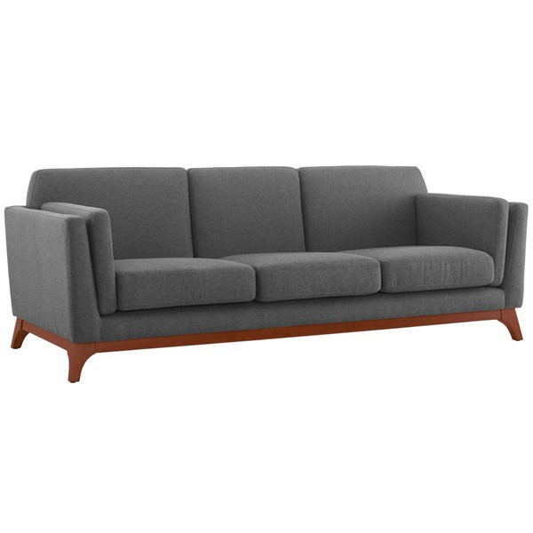 Modway Furniture Chance Gray Fabric Sofa EEI-3062-GRY
