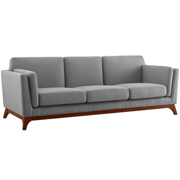 Modway Furniture Chance Light Gray Fabric Sofa EEI-3062-LGR