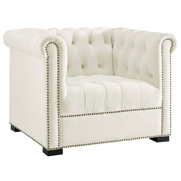 Modway Furniture Heritage Ivory Upholstered Armchair EEI-3065-IVO