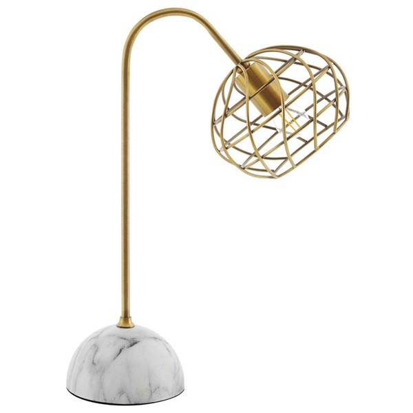 Modway Furniture Salient White Faux Marble Table Lamp EEI-3086