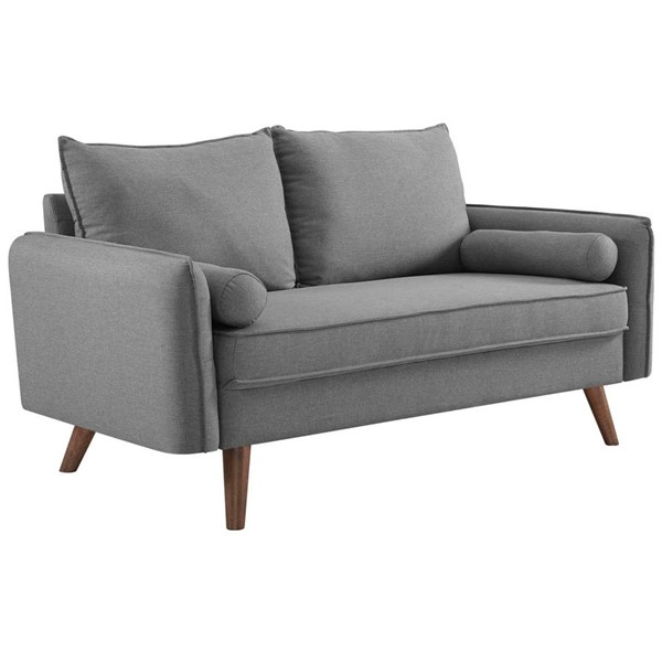Modway Furniture Revive Light Gray Fabric Upholstered Loveseat EEI-3091-LGR