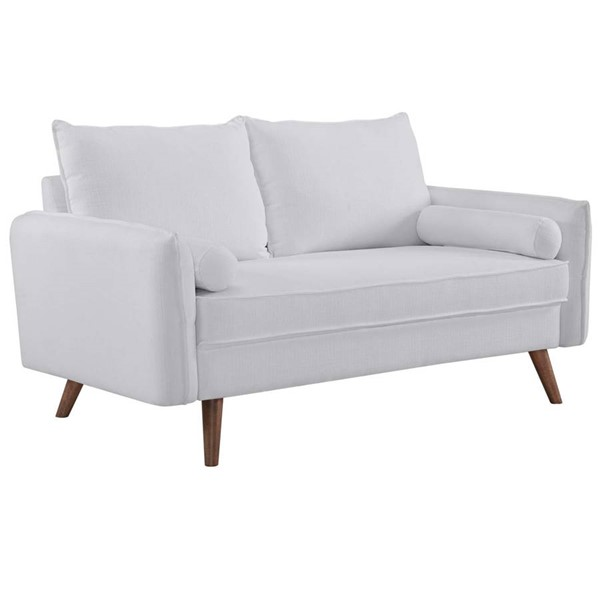 Modway Furniture Revive White Fabric Upholstered Loveseat EEI-3091-WHI