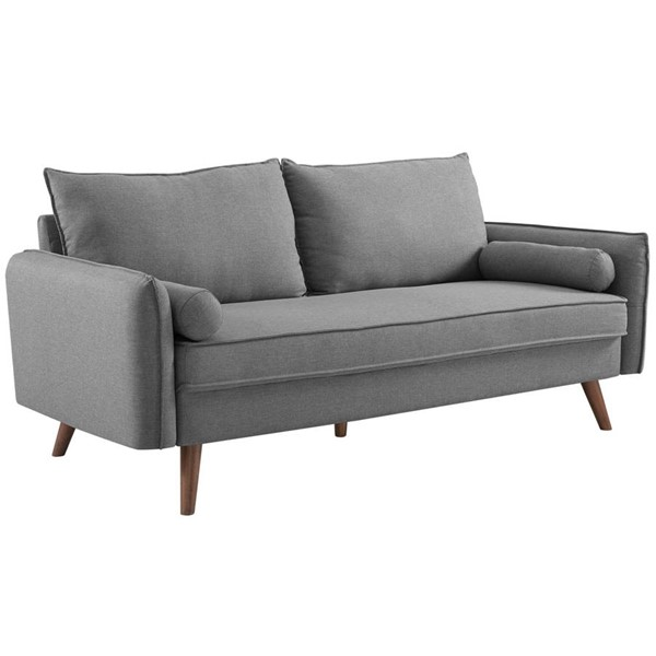 Modway Furniture Revive Light Gray Fabric Upholstered Sofa EEI-3092-LGR