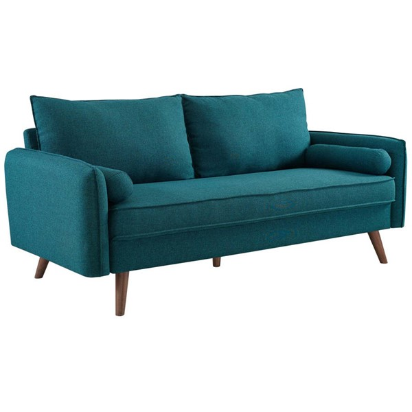Modway Furniture Revive Teal Fabric Upholstered Sofa EEI-3092-TEA