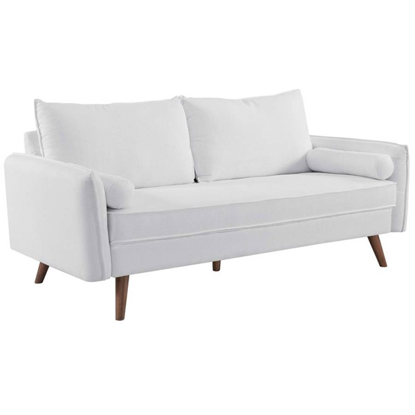 Modway Furniture Revive White Fabric Upholstered Sofa EEI-3092-WHI
