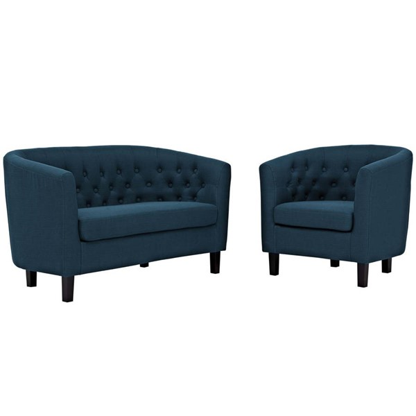 Modway Furniture Prospect Azure Fabric Loveseat and Armchair Sets EEI-3148-LR-SET-VAR