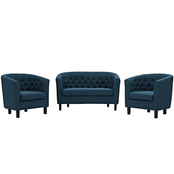 Modway Furniture Prospect Azure Fabric 3pc Loveseat and Armchair Sets EEI-3149-LR-SET-VAR