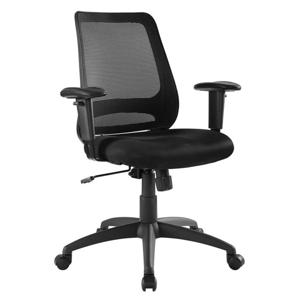 Modway Furniture Forge Black Mesh Office Chair EEI-3195-BLK